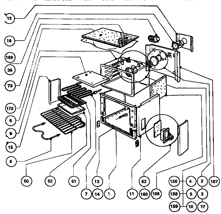Thermador rdfs30q range timer stove clocks and appliance timers rdfs30q range main oven assembly parts diagram asfbconference2016 Image collections