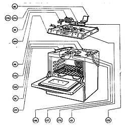 RDFS30QW Range Cooling and electrical control Parts diagram