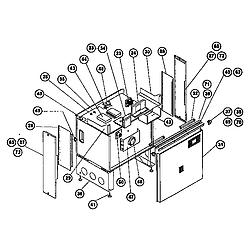 RDSS30RS Range (slide-in) main body Parts diagram