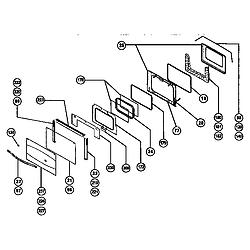RDSS30RS Range Main oven door assembly Parts diagram