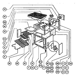 RDSS30RS Range Main oven liner and module Parts diagram