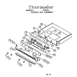 RED30VQW Drop-In Electric Range Burner box assembly Parts diagram