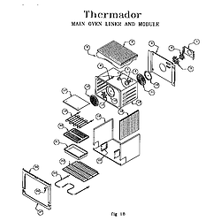 RED30VQW Drop-In Electric Range Main oven liner and module Parts diagram
