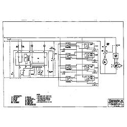RED30VQW Drop-In Electric Range Schematic Parts diagram