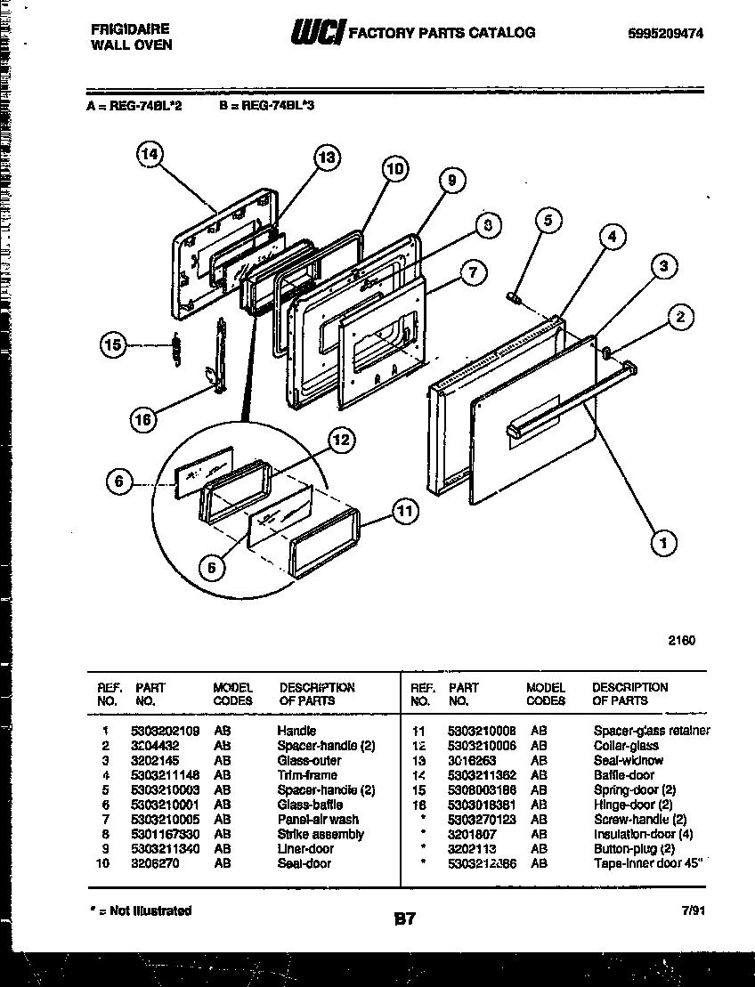 Frigidaire Reg74bl3 Wall Oven Timer