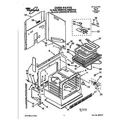 Whirlpool Rs696pxyb Electric Range Timer Stove Clocks