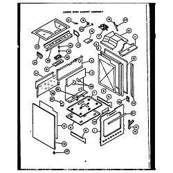 RSD30 Gas Ranges Lower oven cabinet assembly Parts diagram
