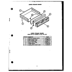 RSD30 Gas Ranges Lower storage drawern200e09@gas components Parts diagram