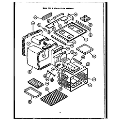 RSD30 Gas Ranges Main top/lower oven assembly Parts diagram
