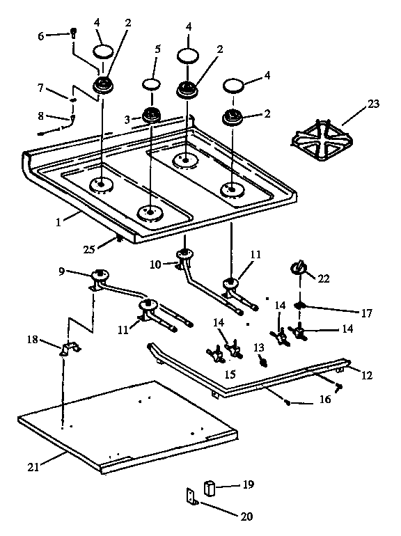 Gas Cooktop Schematic