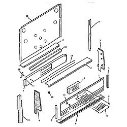 RSK3700UWW Gas Range Backguard Parts diagram
