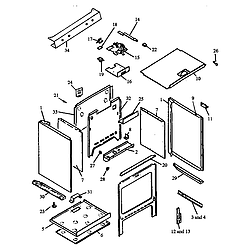 RSK3700UWW Gas Range Cabinet assembly Parts diagram