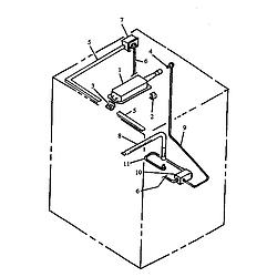 RSK3700UWW Gas Range Gas components Parts diagram