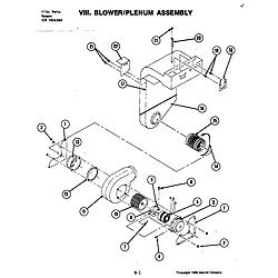 S120C Range Blower assembly Parts diagram