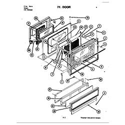 S120C Range Door (s120) Parts diagram