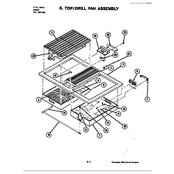 S120C Range Top assembly Parts diagram