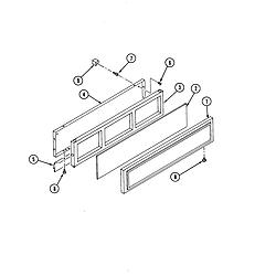 S136 Range Access panel Parts diagram
