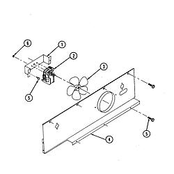 S136 Range Blower motor (cooling) Parts diagram