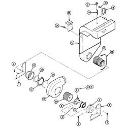S136 Range Blower motor Parts diagram