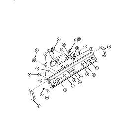 S136 Range Control panel Parts diagram