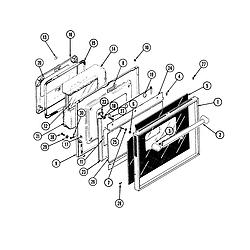 S136 Range Door Parts diagram