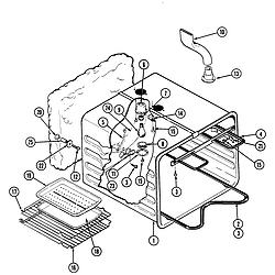 S136 Range Liner Parts diagram