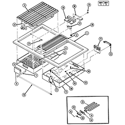 S136 Range Top assembly Parts diagram