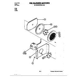 S176 Electric Slide-In Range Blower motor (convection fan) (s176) Parts diagram