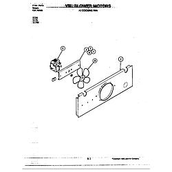 S176 Electric Slide-In Range Blower motor (cooling fan) (s176) Parts diagram