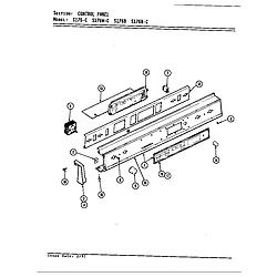 S176 Electric Slide-In Range Control panel (s176) Parts diagram
