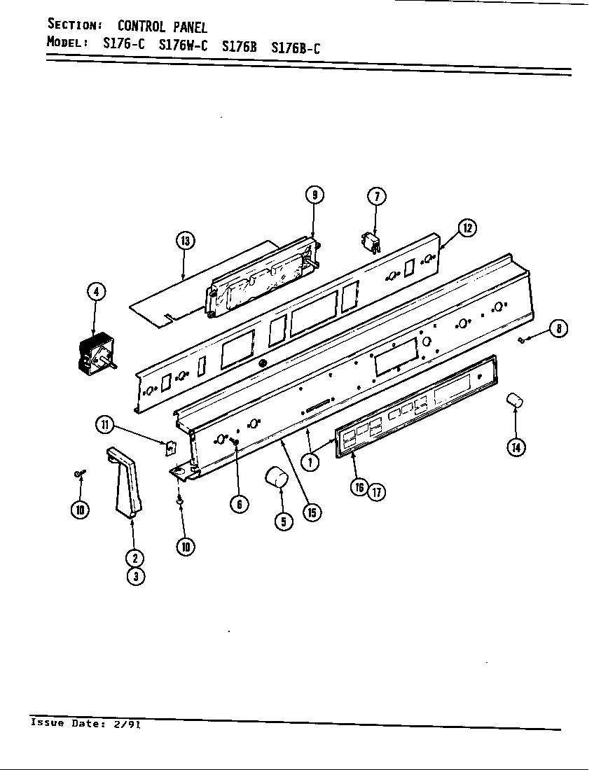 jenn-air s176 electric slide-in range timer