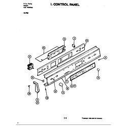 S176 Electric Slide-In Range Control panel (s176w) (s176w) Parts diagram