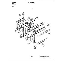 S176 Electric Slide-In Range Door (s176) Parts diagram