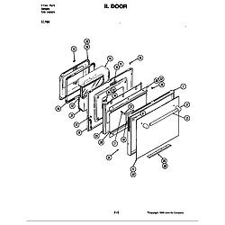 S176 Electric Slide-In Range Door (s176w) (s176w) Parts diagram