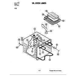 S176 Electric Slide-In Range Liner (s176) Parts diagram