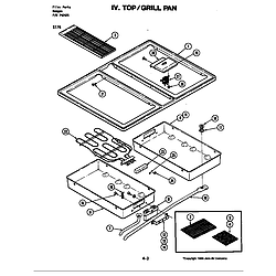 S176 Electric Slide-In Range Top/grill pan (s176) Parts diagram