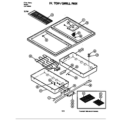 S176 Electric Slide-In Range Top/grill pan (s176w) (s176w) Parts diagram