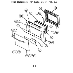 SC272T Built-In Electric Oven Door components (s272t) (sc272t) (scd272t) Parts diagram
