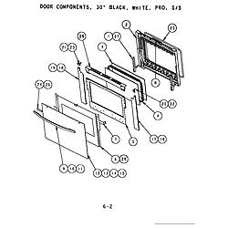 SC302 Built-In Electric Oven Door components (s301t) (s302t) (sc301t) (sc302t) (scd302t) Parts diagram
