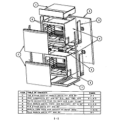 SC302 Built-In Electric Oven Oven assembly Parts diagram