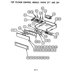 SC302 Built-In Electric Oven Top plenum control module Parts diagram