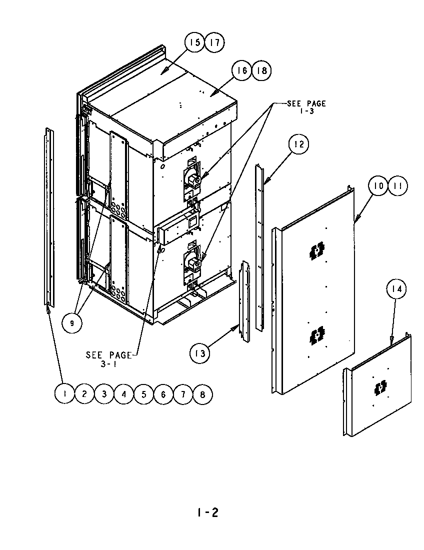 SCD302 Built-In Electric Oven Back, side and trim Parts diagram