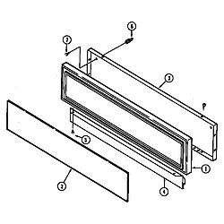 SEG196 Slide-In Range Access panel (seg196) (seg196-c) Parts diagram