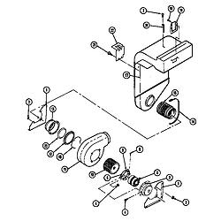 SEG196 Slide-In Range Blower motor-blower/plenum Parts diagram