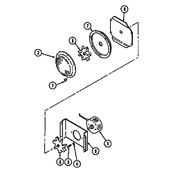 SEG196 Slide-In Range Blower motor-convection Parts diagram
