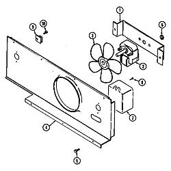 SEG196 Slide-In Range Blower motor-cooling Parts diagram