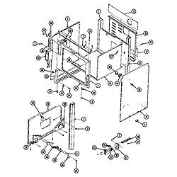 SEG196 Slide-In Range Body (seg196) (seg196-c) Parts diagram
