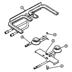 SEG196 Slide-In Range Burner/manifold assembly (seg196) (seg196-c) Parts diagram