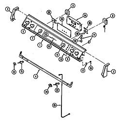 SEG196 Slide-In Range Control panel (seg196) (seg196-c) Parts diagram