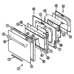 SEG196 Slide-In Range Door (seg196) (seg196-c) Parts diagram